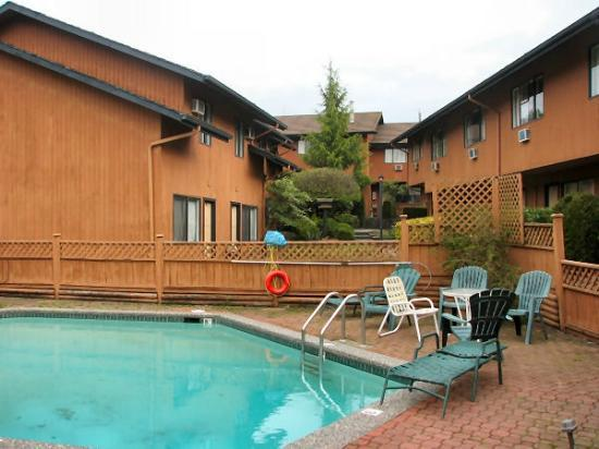 Lake City Inn & Suites: Inner courtyard and pool