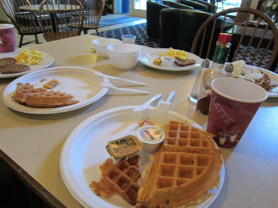 Charter Inn & Suites: A half-eatenn breakfast