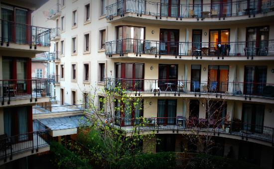 King Apartments Budapest: View from balcony.