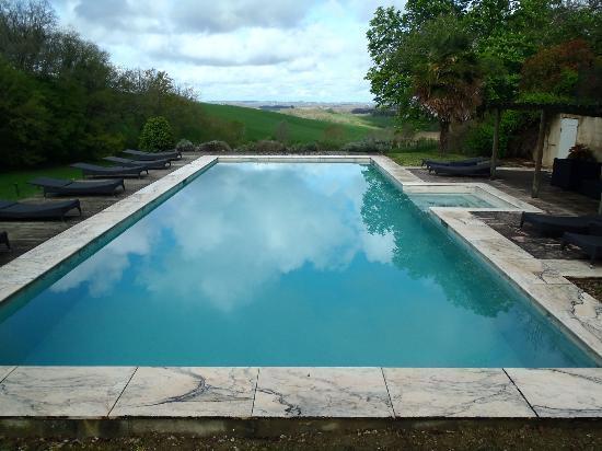 Chateau de Lartigolle : Stunning vista from pool......