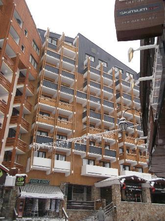 Les Olympiades: hotel côté pistes