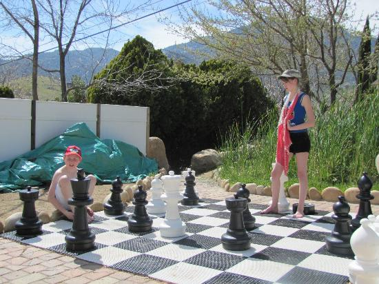 The Kern Lodge: Giant Chess Board