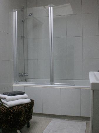 Bij-de-Amstel: Baignoire douche, très propre mais pas beaucoup de pression pour la douche.