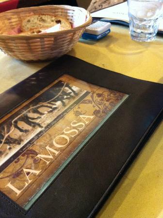 Osteria La Mossa: Menù
