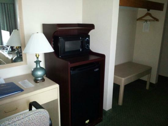 Wyndham Garden Jacksonville : microwave and mini fridge in room