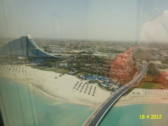 Burj Al Arab Jumeirah: VIEW FROM OUR PANORAMIC SUITE NBR 1212, 12th FLOOR.