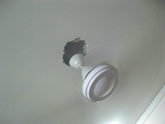 Ceiling fan and hole picture of hotel r k new delhi tripadvisor hotel r k ceiling fan and hole mozeypictures Images