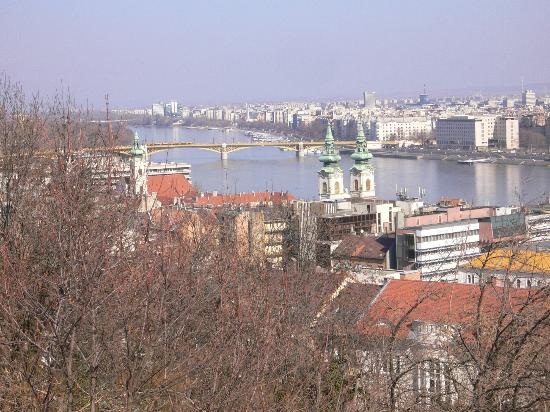 Lion's Garden Hotel: View of the River Danube from Buda