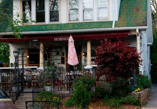 Outside Hobnob Restaurant in Brevard, North Carolina