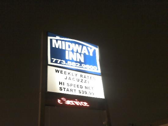 Midway Inn: misleading signage