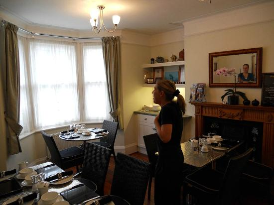 A Great Escape Guest House: Sue in dining room