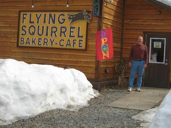 Flying Squirrel Bakery Cafe : Ready to go inside for the best treats in Talkeetna, AK
