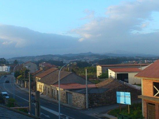 Hotel Cruceiro: Vista desde la terraza de la habitación