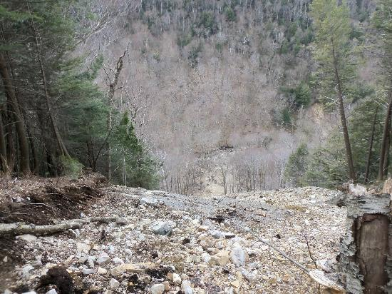 Lye Brook Falls: damage (landslide) from TS Irene
