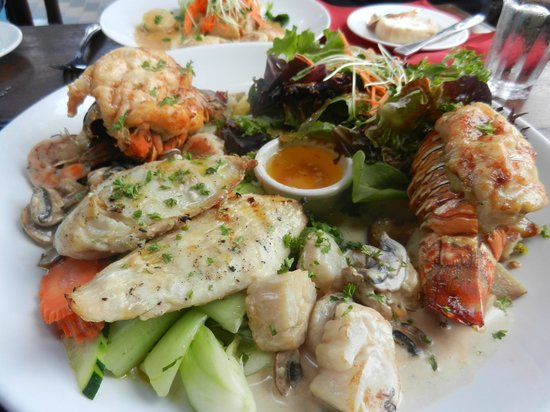 The wonderful platter we shared picture of lemongrass for Asian cuisine kauai
