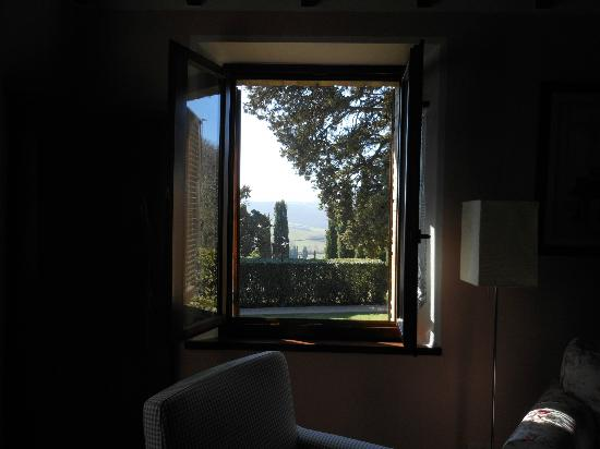 Sant' Antonio: View from inside cabin