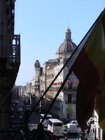 Hotel Rubens: Blick nach links Richtung Stadtzentrum
