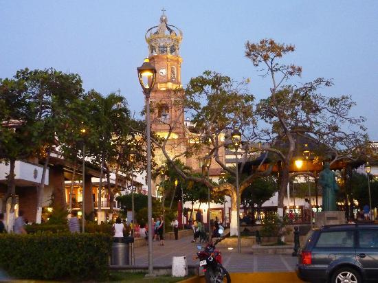 La Iglesia de Nuestra Senora de Guadalupe: At dusk, looking East