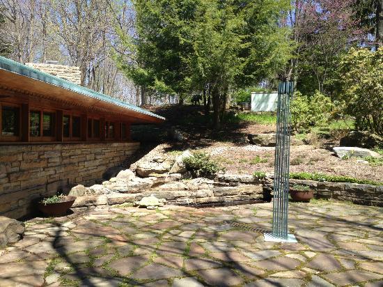 Kentuck Knob: Tonal sculpture by back door