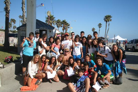 Surfin Fire  Premiere Surf lessons: Spain exchange student surf group