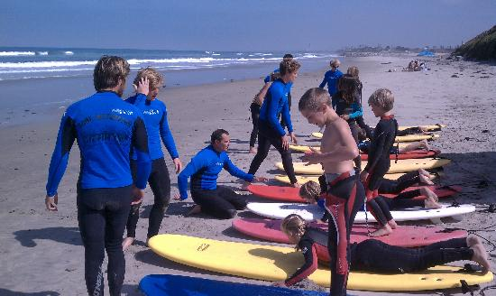 Surfin Fire  Premiere Surf lessons: Surf school in Encinitas