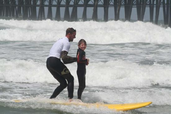 Surfin Fire  Premiere Surf lessons: Surf school at the Oceanside Pier