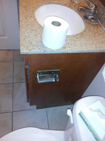 Candlewood Suites Lafayette River Ranch: No Toilet paper holder
