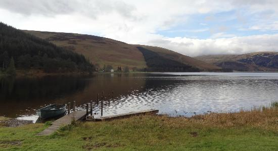 Tibbie Shiels Camping: View from the back over St Mary's Loch