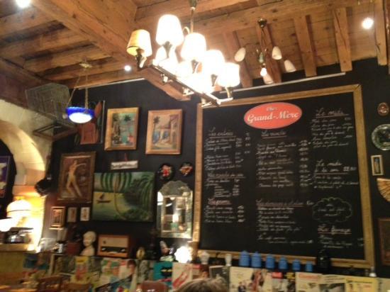 Restaurant Chez La Mere Menu Dejeuner