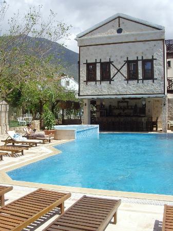 Pool, hot-tub and bar