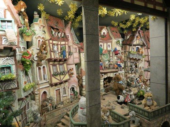 Old Town: Village scene inside Kathe Wohlfahrt Christmas store