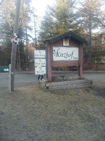 Kitzhof Inn: Kitzhof sign