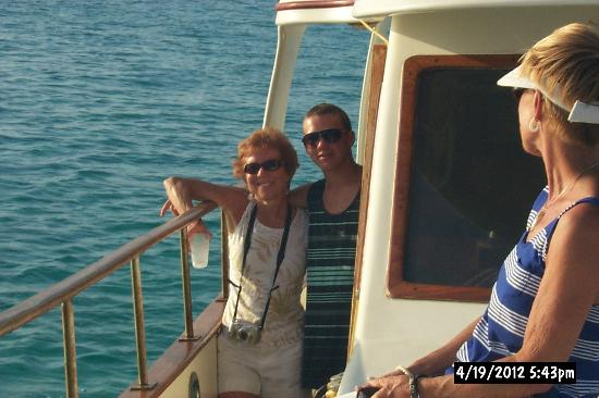White Sand Water Sports : My wife Carolyn and son Jesse on the dinner cruise