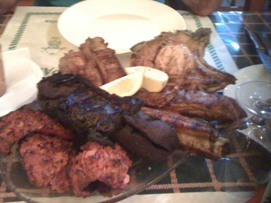 Bar-Restaurante Parrilla Las Nieves: no apto para vegetarianos.