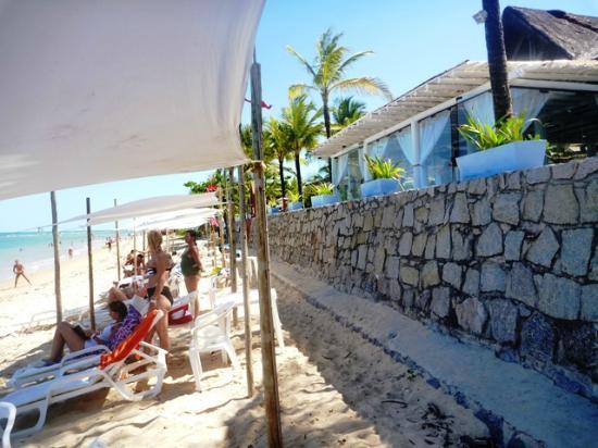 Mar Paraiso Resort : playa y reposeras-sombrillas