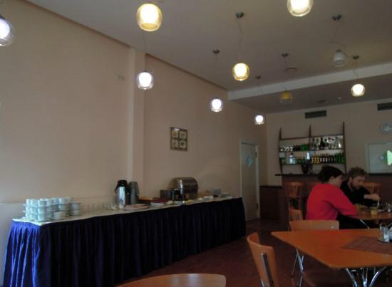 Hotel Skanste: Frühstücksraum mit Buffet