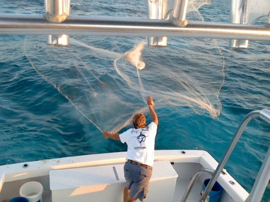 Drop Back Fishing Charters: Gary  workin on the Bait