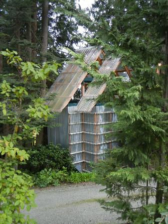 "Skagit Bay Hideaway: ""Pool House"" - back side of the Hot Tub shelter, which looks out at the bay"