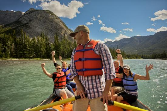 Rafting down the Bow River, Banff NP