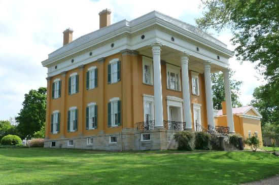 Lanier Mansion: the river side of the mansion