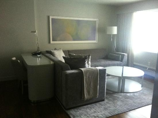 The James Hotel: lovely living room area