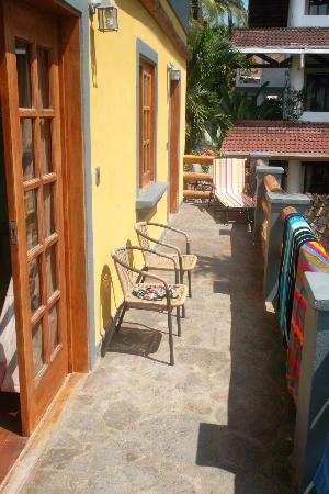 Hotel Mimos: Large balcony of the 2 bedroom suite