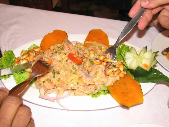 la  retamadel che restaurante: Um Ceviche para acompanhar!!!!