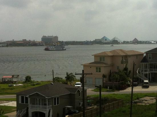 "SpringHill Suites Galveston Island: ""The Captain"" meanders across the bayou."