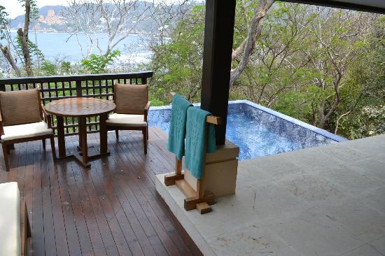 Banyan Tree Cabo Marqués: Terraza y alberca privada con vista espectacular..!