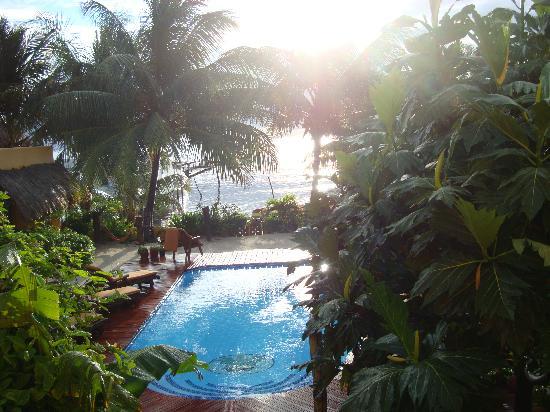 Seaside Cabanas: La vista después de la lluvia