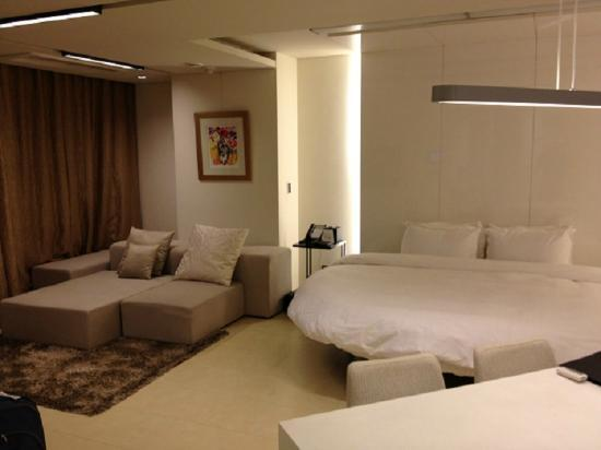 The Classic 500 Executive Residence Pentaz: Standard room with sitting area. My room, photo taken at check in