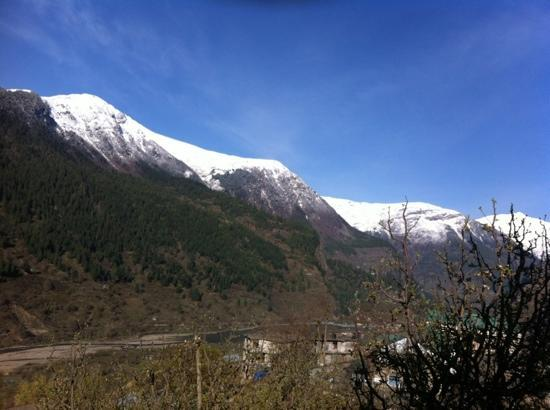 Sangla Resort: the view from the balcony