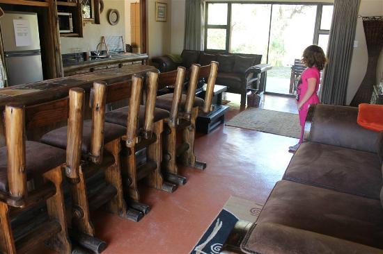 Dunroamin Safaris: Lounge/Kitchen