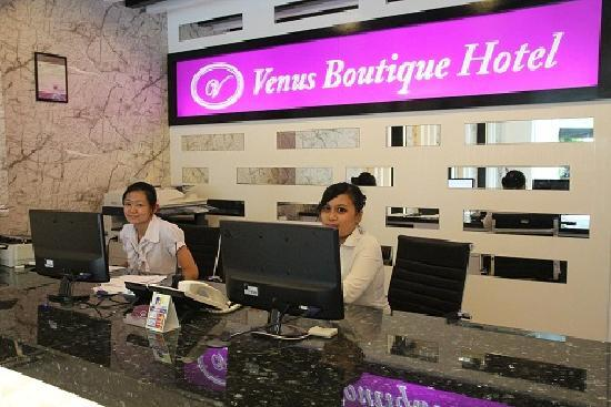 Venus Boutique Hotel: Reception